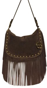 Michael Kors Suede Fringe Brown Cross Body Bag