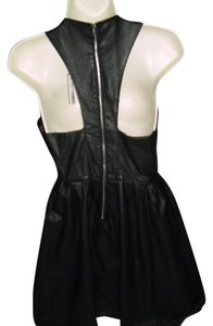 Forever 21 short dress faux leather black on Tradesy