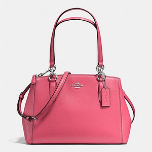 Coach Carryall Christie Tote 36637 Satchel in SILVER/STRAWBERRY