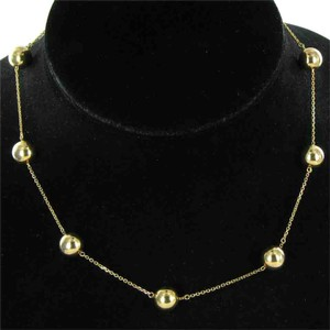 Roberto Coin Pallini Necklace 18k Yellow Gold 10mm Balls Beads 18