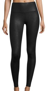 ALO Yoga Yoga Comfortable Faux Leather Stretchy Sporty Black Leggings