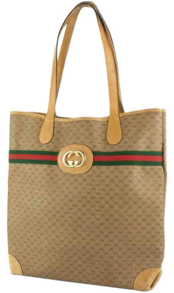 58a3b77396e5b1 Gucci Great For Everyday Xl Satchel/Tote Stripe/Gold Mint Vintage Great To  Mix ...