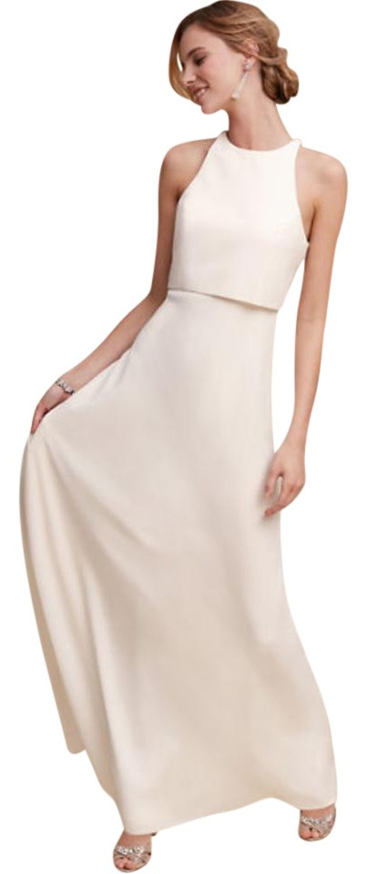b252dc08f6c Jill Stuart Ivory Polyester  Polyester Lining Iva Crepe Gown From Bhldn  Modern Wedding Dress