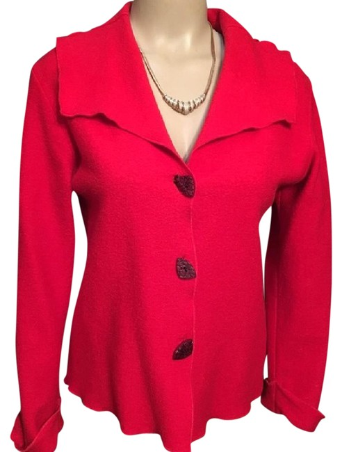 Preload https://img-static.tradesy.com/item/21040018/red-vintage-wool-cardigan-size-4-s-0-1-650-650.jpg