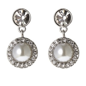 Givenchy Silver-Tone Faux Pearl Earrings