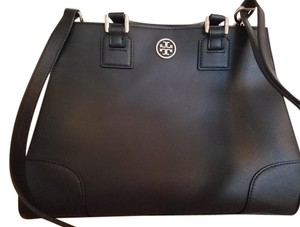 Tory Burch Leather Classic Satchel in Black