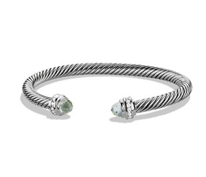 David Yurman Cable Classics Bracelet with Prasiolite and Diamonds, 5mm