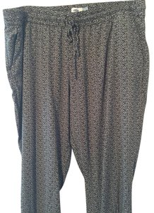 Old Navy Relaxed Pants Mixed Black and Tan