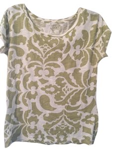 Ann Taylor LOFT T Shirt Green and Beige