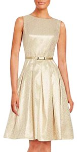 Tommy Hilfiger Gold Belted Silver Night Out Dress
