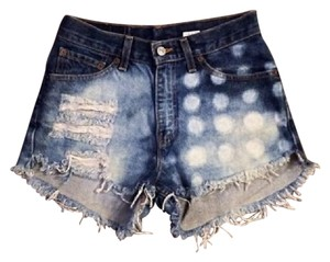 Levi's Cut Off Shorts Blue, White