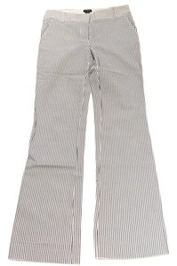 J.Crew Boot Cut Pants Navy, white