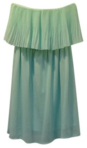Foreign Exchange short dress mint green Strapless Pleated Chiffon on Tradesy