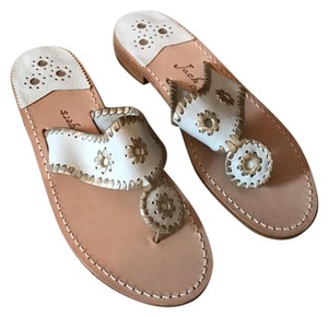 Jack Rogers white/platinum Sandals