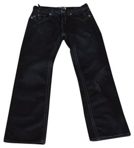 MEK Denim Straight Leg Jeans-Dark Rinse