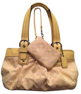 Coach Soho Signature Tote in Yellow