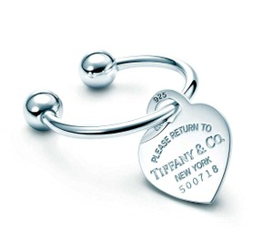 Tiffany & Co. Large RETURN TO TIFFANY Heart Key Chain With Original Serial Number