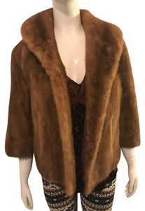 AUTUMN HAZE rare quality EMBA National Brown Mink Fur Coat