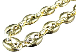 Other Bonded 1/20th 10K Yellow Gold 9.5 MM Mariner Link Chain Necklace 24