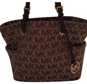 Michael Kors Mk Monogram Tote in Brown