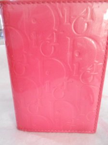 Dior Signature Card Case Passport ID Wallet Hot Pink Patent Leather