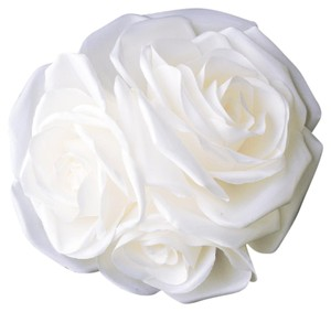 Elegance By Carbonneau Garden Rose Cluster Flower Hair Clip 419 White
