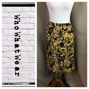 Who What Wear x Target Skirt yellow/black