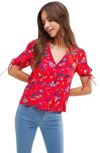 ASOS Floral Top Red Floral