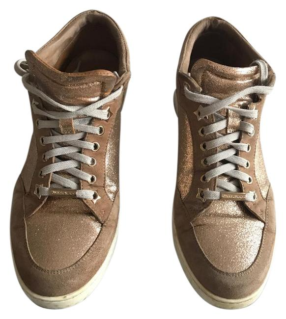 Item - Nude Tokyo Suede and Glitter Sneakers Size US 9 Regular (M, B)