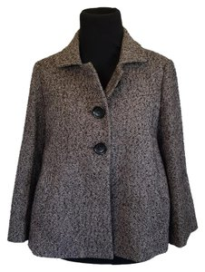 Michael Kors A-line 3/4 Sleeves Wool Pea Coat