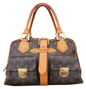 Louis Vuitton Manhattan Gm Satchel in Brown Monogram Canvas