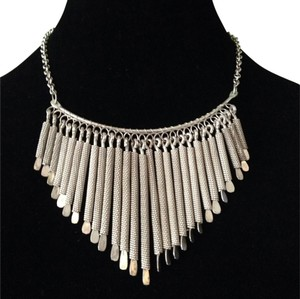 Tanjore Silver V Stick Statement Necklace