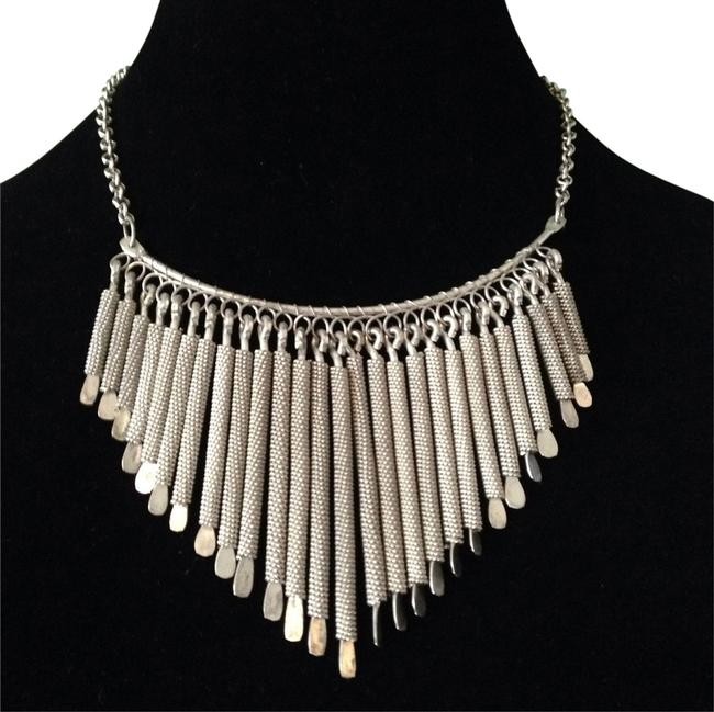 Silver Stick Statement Necklace Silver Stick Statement Necklace Image 1