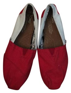TOMS red and white Athletic