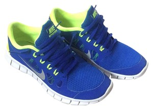 Nike blue and neon yellow Athletic