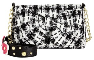 Betsey Johnson Quilted Diamonds Black Cross Body Bag