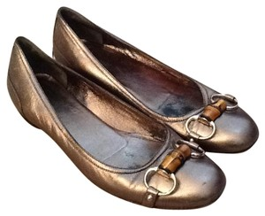 Gucci Loafers Horsebit Metallic Flats