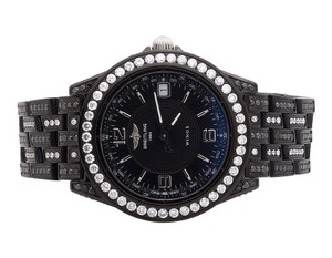 Breitling 38 Mm Breitling Chronometre Wings Automatic Black Pvd Diamond Watch