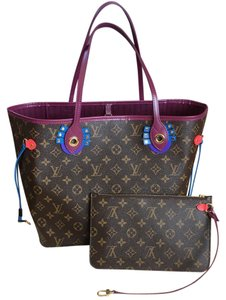 Louis Vuitton Tote in Brown, Magenta