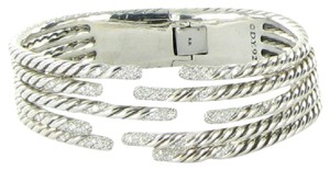 David Yurman Bracelet Five Row Willow 1.53cts Diamonds Sterling Silver