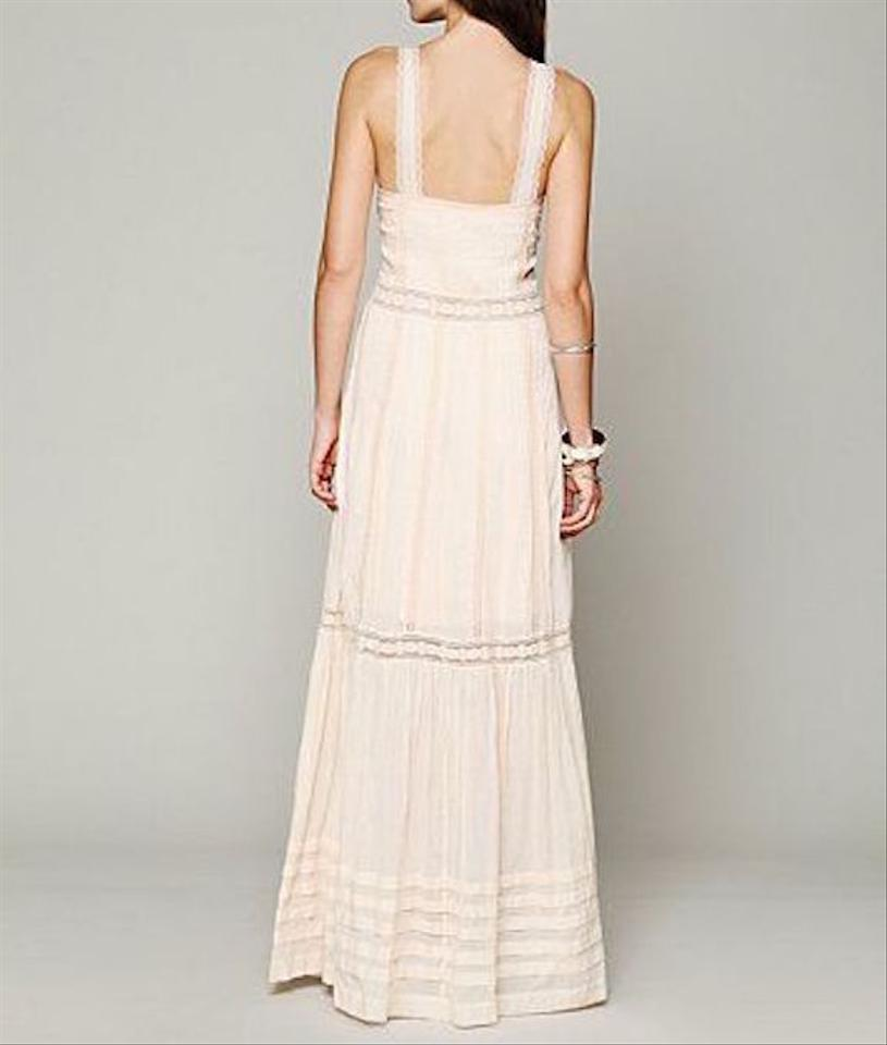 edb37128604d Free People Cream Lace Candela Beige Draped Eyelet Gown New Long Casual  Maxi Dress Size 8 (M) - Tradesy