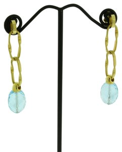 Marco Bicego Marco Bicego 18k yellow gold Women's blue topaz dagle earrings