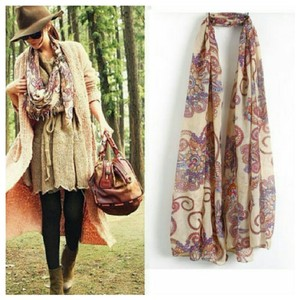 Other Floral Printed Lightweight Scarf Pashmina