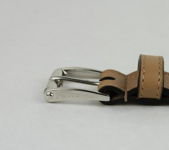 Gucci Studded Caramel Brown Leather Belt w/silver Buckle 95/38 380561 2754
