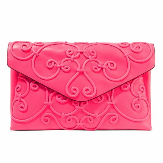 Preload https://img-static.tradesy.com/item/21041669/valentino-neon-applique-pink-leather-clutch-0-0-540-540.jpg