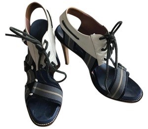 Derek Lam Sandals White & Blue Platforms