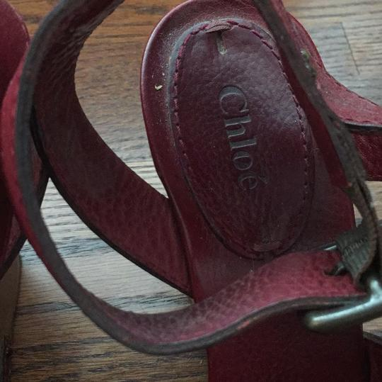 Chloé maroon red Wedges Image 1