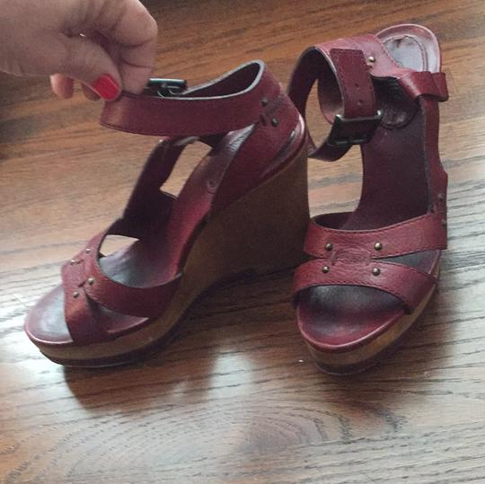 Chloé maroon red Wedges Image 2