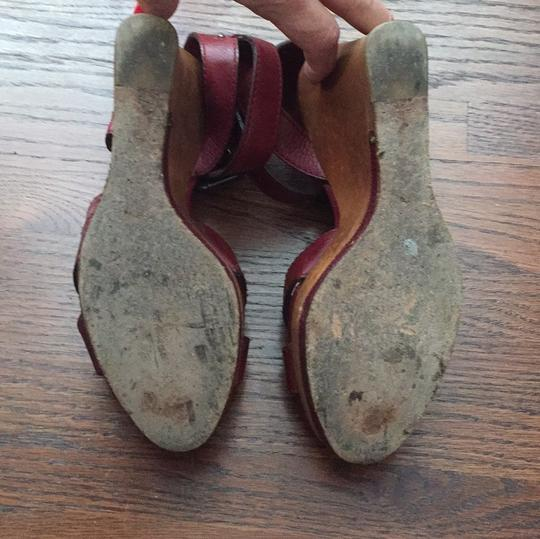 Chloé maroon red Wedges Image 4