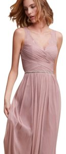 BHLDN Rose Quartz Nylon Tulle Lace; Polyester Lining Fleur Formal Bridesmaid/Mob Dress Size 6 (S)